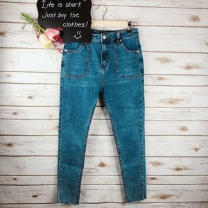 Goldie Jeans Size S High Rise Raw Hem